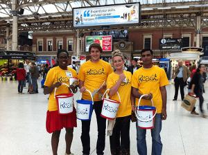 Volunteers at Victoria Station