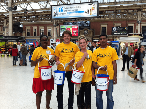 Volunteers at Victoria Station
